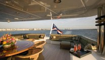 Yacht MAGIC upper aft deck